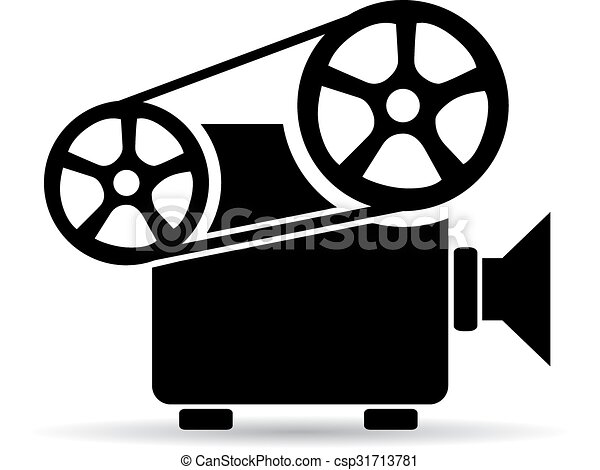 cinema video projector icon old retro cinema video projector icon rh canstockphoto com overhead projector clipart projector clipart pictures