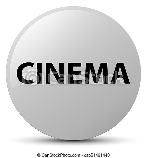 Cinema white round button - csp51491440