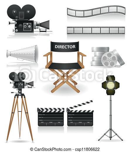 Establecer iconos cinematografía - csp11806622