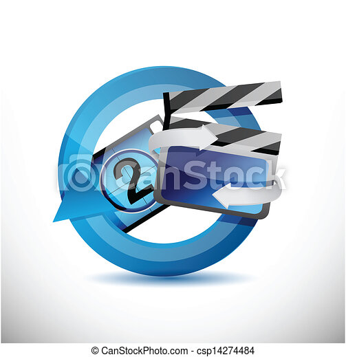 cinematography 360 design concept illustration - csp14274484