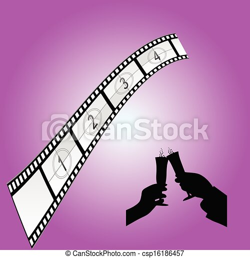 cinematography sign art color vector illustration - csp16186457