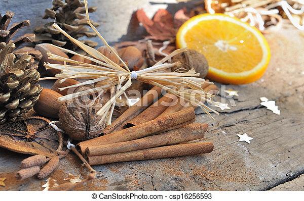 cinnamon and orange for dessert - csp16256593