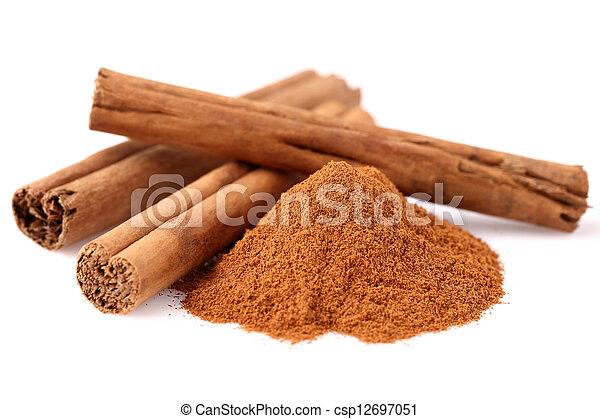 Cinnamon in closeup - csp12697051