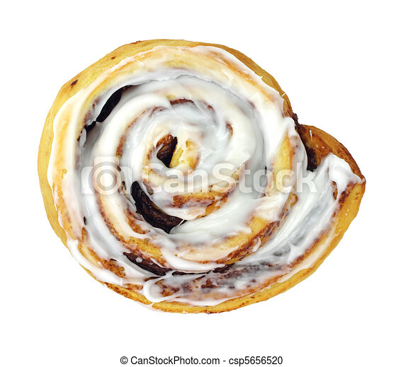 a large cinnamon roll on a white background stock illustration rh canstockphoto com Homeade Cinnamon Roll Clip Art cinnamon roll clipart black and white