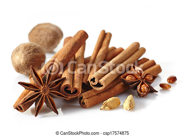 Cinnamon sticks and spices - csp17574875