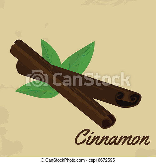 Cinnamon sticks retro poster - csp16672595