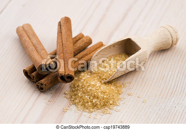 cinnamon with brown sugar - csp19743889