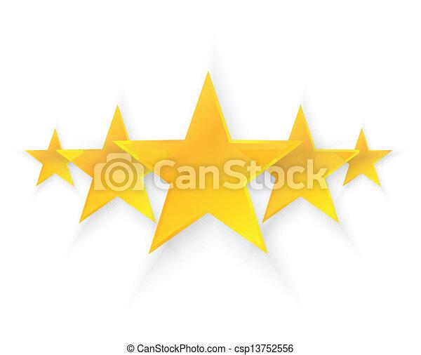 cinq, qualité, étoiles - csp13752556