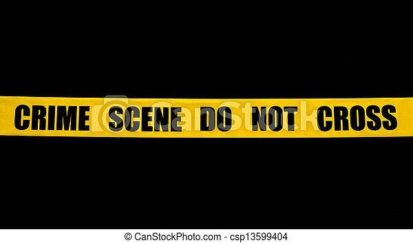 Cinta policial de la escena del crimen - csp13599404