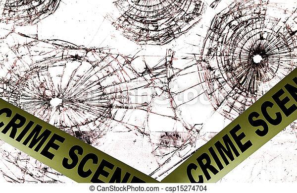 Cinta policial de la escena del crimen - csp15274704