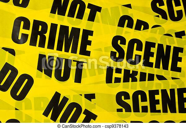 Fondo de cinta policial - csp9378143