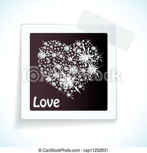 Una etiqueta de amor con cinta de papel - csp11232831