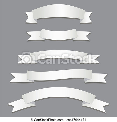 Banderas plateadas - csp17044171