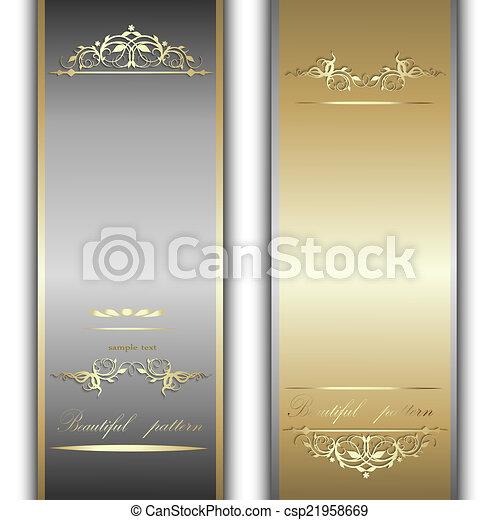Cintas de oro y plata - csp21958669