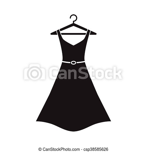 Cintre Robe Femme Long Dress Hanger Simple Long Vecteur