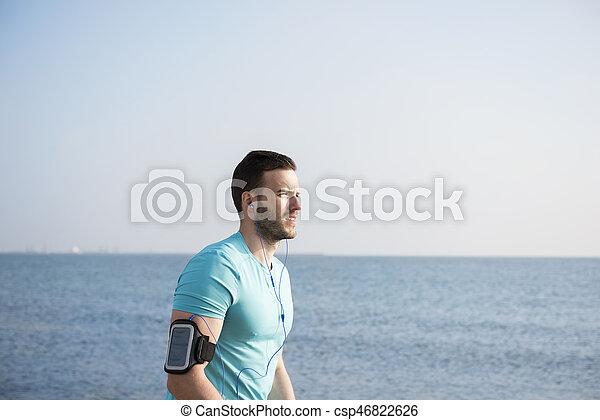 cintura, imagem, após, cima, sacudindo, homem - csp46822626