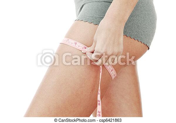 Medición de cintura - csp6421863