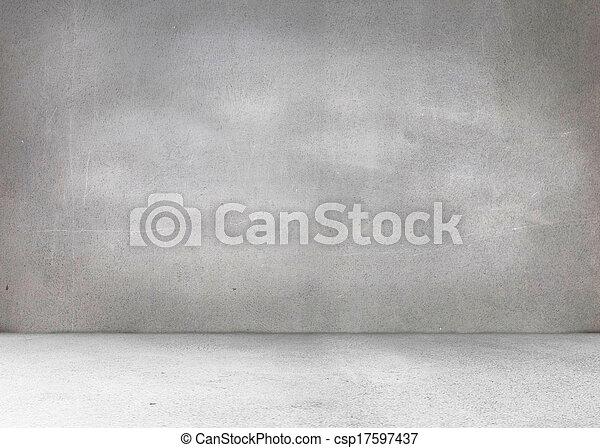 cinzento, sala - csp17597437