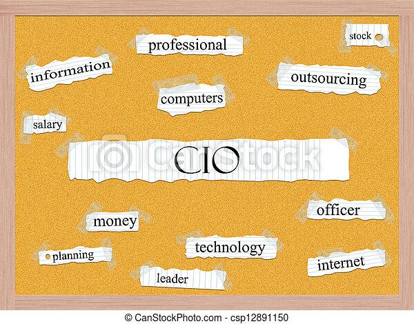 CIO Corkboard Word Concept - csp12891150