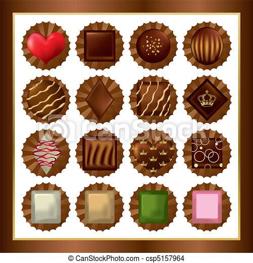 cioccolato, serie - csp5157964