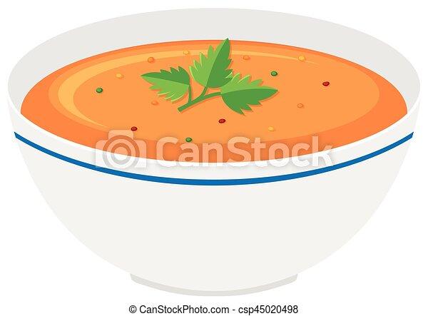 ciotola minestra, zucca - csp45020498