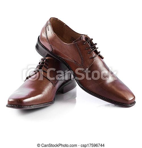 cipők, shoes., elszigetelt, bábu, háttér, white hím - csp17596744