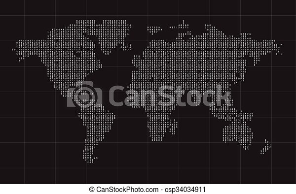 Cipher world map black vector background vector clip art search cipher world map black vector background gumiabroncs Gallery