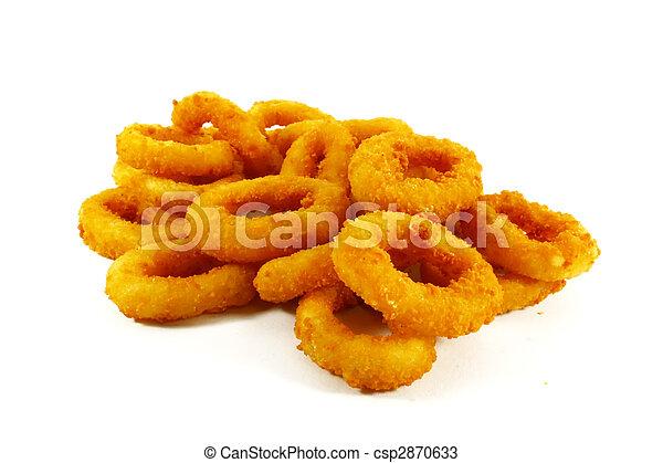 cipolla, cibo, anelli, digiuno, popolare, piatto, pietanza, lato - csp2870633