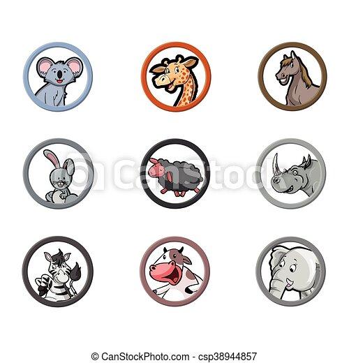 circle animal herbivora - csp38944857