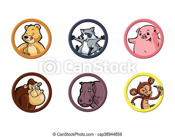 circle animal omnivore illustration - csp38944859