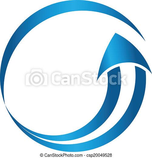 Circle arrow image logo - csp20049528