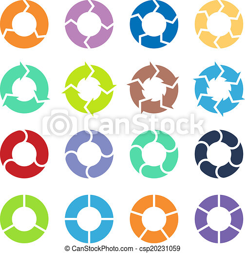 Circle arrows set - csp20231059