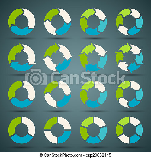 Circle arrows set for your info graphic - csp20652145