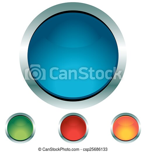 Circle Button Icon Set - csp25686133