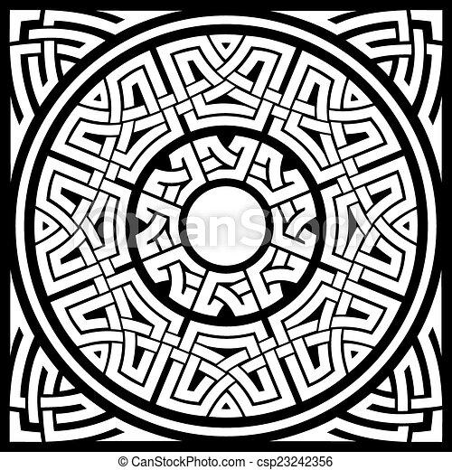 circle celtic frame - csp23242356
