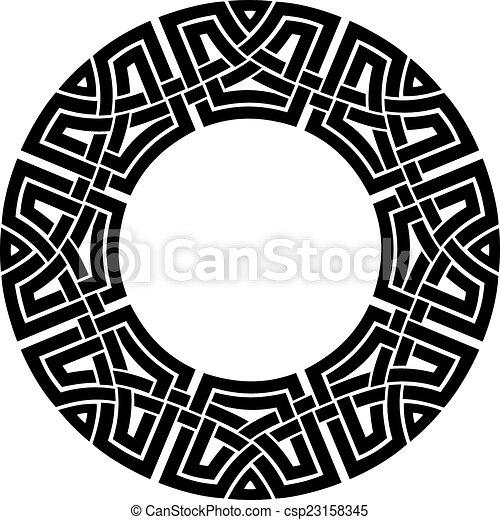 circle celtic frame - csp23158345