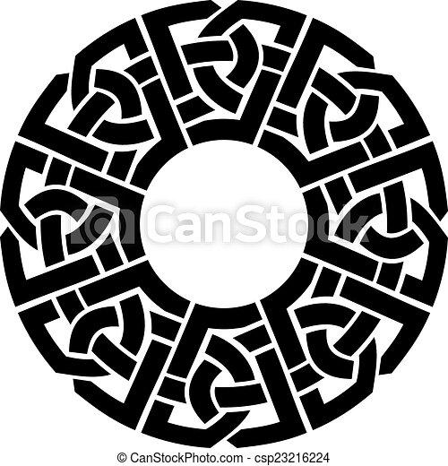 circle celtic frame - csp23216224