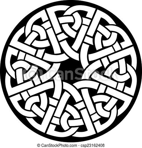 circle celtic frame - csp23162408