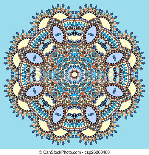 Mandala circle decorative spiritual indian symbol of lotus clip circle decorative spiritual indian symbol of lotus flower csp26268460 mightylinksfo