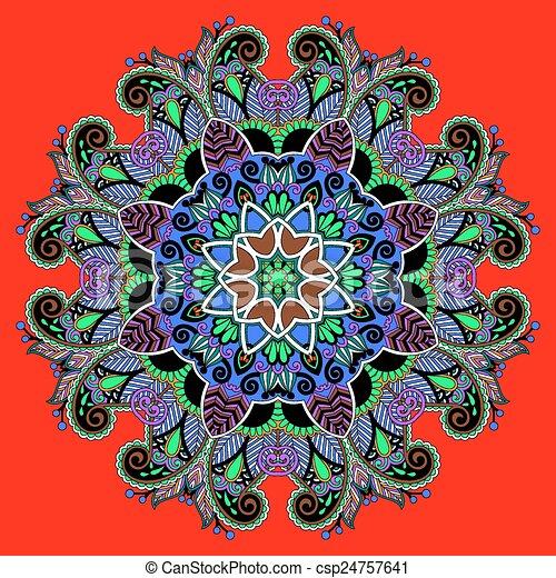 Mandala circle decorative spiritual indian symbol of lotus flower circle decorative spiritual indian symbol of lotus flower csp24757641 mightylinksfo