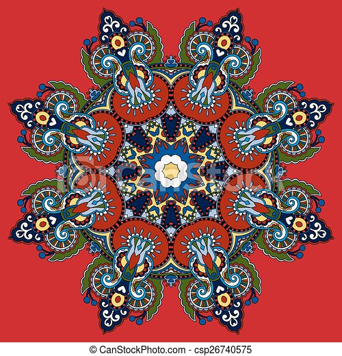 Mandala circle decorative spiritual indian symbol of lotus flower circle decorative spiritual indian symbol of lotus flower csp26740575 mightylinksfo
