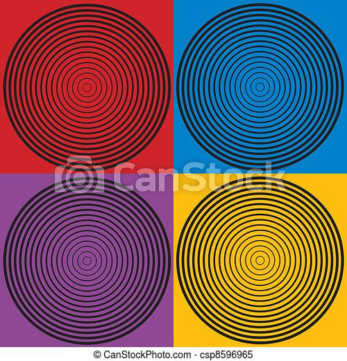 Circle Design Patterns, 4 Colors  - csp8596965