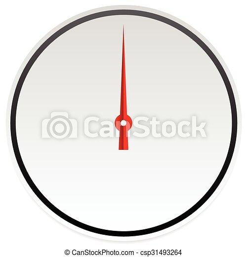 Circle dial, gauge template. Editable vector illustration. - csp31493264