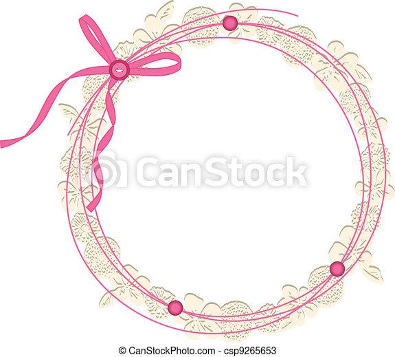 Circle Floral Frame - csp9265653