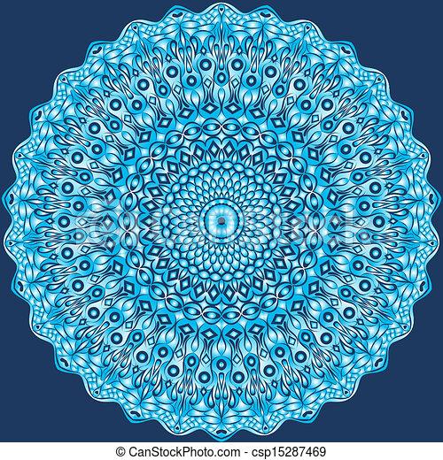 Circle floral ornament. - csp15287469