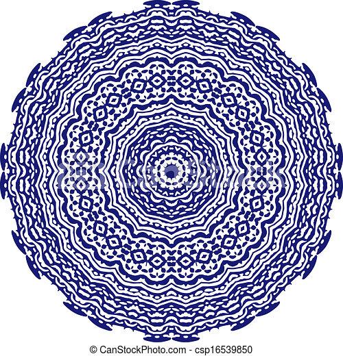 Circle floral ornament. - csp16539850