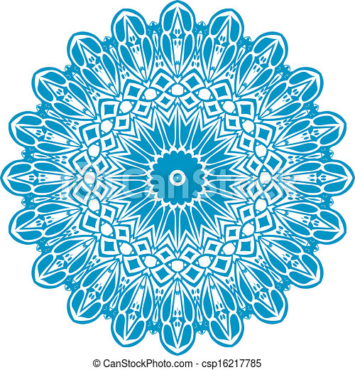Circle floral ornament - csp16217785
