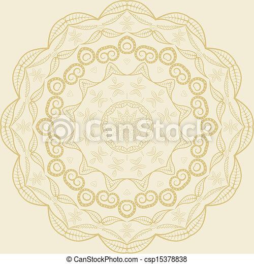 Circle floral ornament - csp15378838