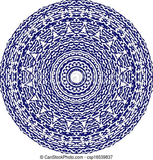 Circle floral ornament. - csp16539837