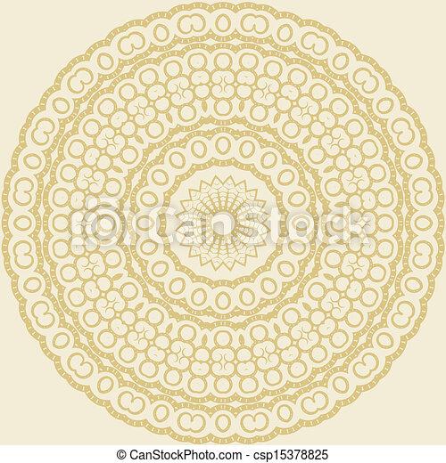Circle floral ornament - csp15378825